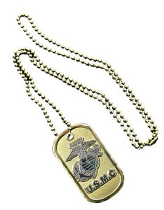 Marines Dog Tag - U.S.M.C. w/Emblem (Engraveable)