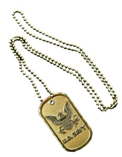 Navy Dog Tag - U.S. Navy Emblem (Engraveable)