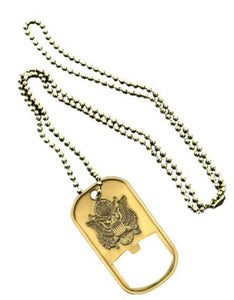 Army Dog Tag - Bottle Opener - Army Emblem (Engraveable)