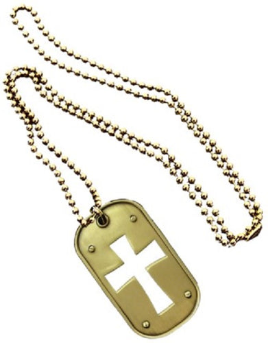 SPIRITUAL DOG TAG - CROSS CUT-OUT