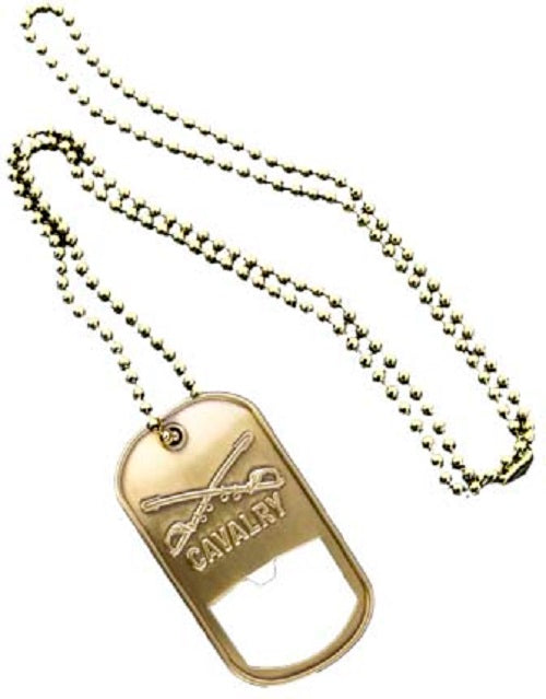 Army Dog Tag - Bottle Opener - Cavalry (Engraveable)