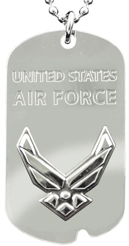 AIR FORCE DOG TAG - United States Air Force (HAP) w/keychain hoop
