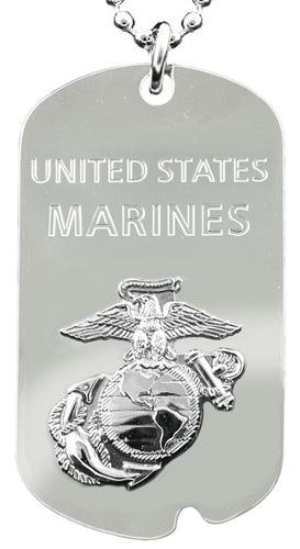 MARINES DOG TAG - United States Marines w/keychain hoop