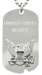 NAVY DOG TAG - United States Navy w/keychain hoop