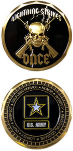 Army Challenge Coin - Lightning Strikes Once