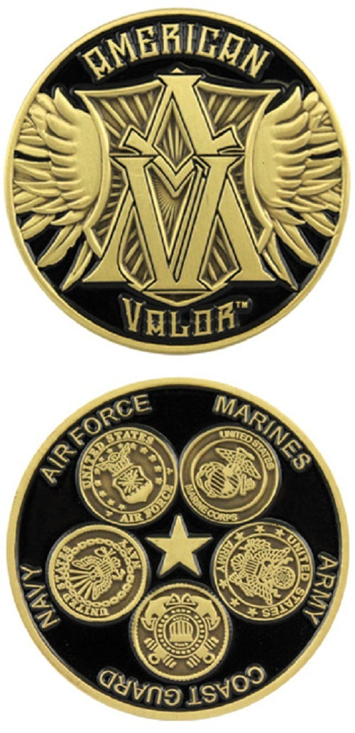 Challenge Coin - American Valor - All Branches