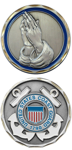 Coast Guard Challenge Coin - Praying Hands