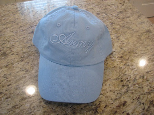 Army - Embroidered Cap - Army (Baby Blue)