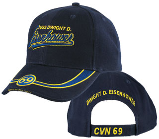 Navy - Embroidered Cap - USS Dwight D. Eisenhower CVN 69