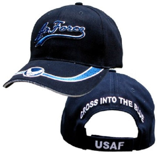 Air Force - Embroidered Cap - Air Force Cross Into the Blue (Black)