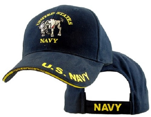 Navy - Extreme Embroidered Cap - United States Navy with Ram