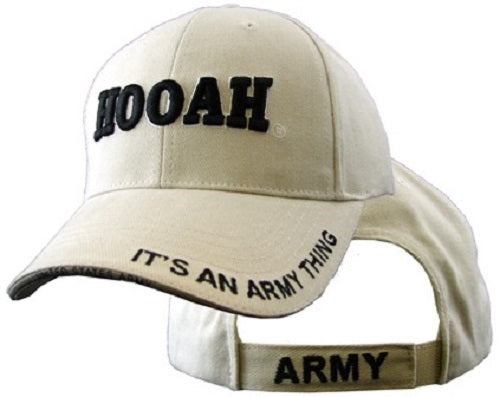 Army - Embroidered Cap - Hooah (It's an Army Thing) (Khaki)