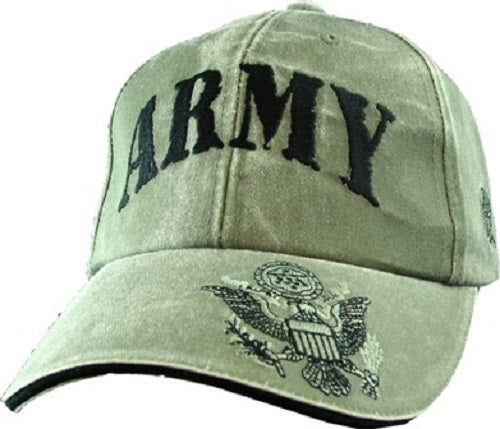 Army - Embroidered Cap -ARMY (Emblem and Eagle)