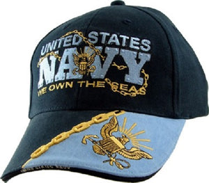 Navy - Embroidered Cap - We Own the Seas (Style 4)