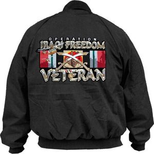 Jacket - Snap Front w/Operation Iraqi Freedom Veteran - Size M