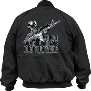 Jacket - Snap Front w/Marines Ultimate in Body Piercing - Size L