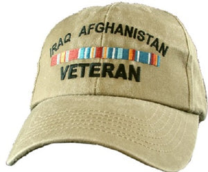 Wars - Extreme Embroidered Cap - Iraq Afghanistan Veteran (Distressed Look)