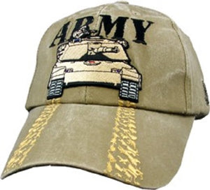 Army - Embroidered Cap - ARMY w/Tank