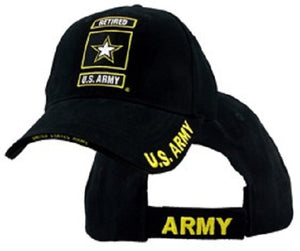 Army - Extreme Embroidered Cap - RETIRED U.S. ARMY w/Star