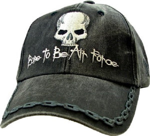 Air Force - Embroidered Cap - Bone to be Air Force Skull