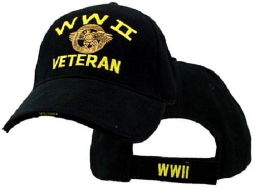 Wars & Operations - Embroidered Cap - WWII Veteran w/Eagle