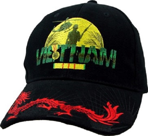 Wars & Operations - Embroidered Cap - Vietnam w/Red Dragon