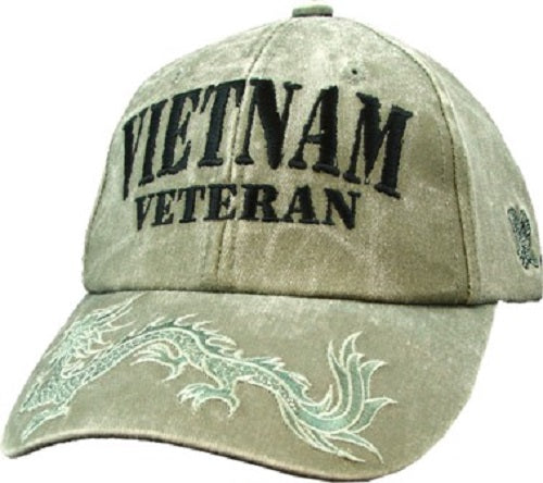 Wars & Operations - Embroidered Cap - Vietnam Veteran w/Dragon