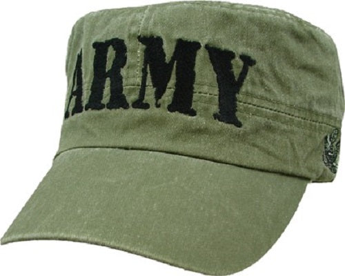 Army - Embroidered Cap - ARMY Rubber Stamp Flat Top