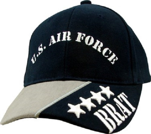 Air Force - Extreme Embroidered Cap -U.S. Air Force Brat (Youth-Black)
