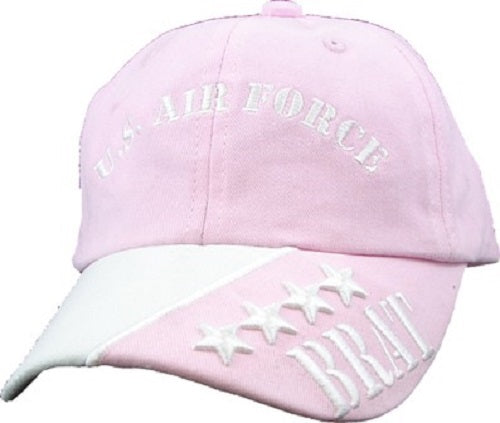 Air Force - Extreme Embroidered Cap -U.S. Air Force Brat (Youth-Light Pink)