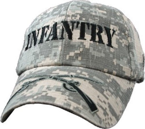 Army - Embroidered Cap - Infantry w/Crossed Rifles (Digi-Camo)