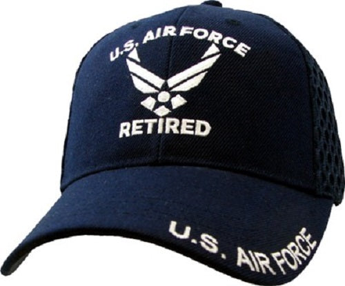 Air Force - Embroidered Cap - U.S. Air Force Retired (Mesh)