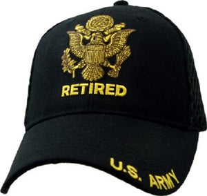 Army - Embroidered Cap - U.S. Army Retired (Mesh)