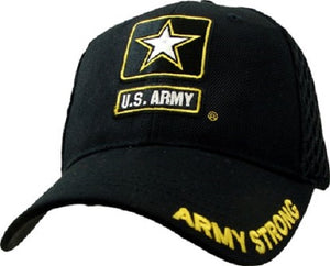 Army - Embroidered Cap - U.S. Army Mesh (Army Strong w/Star)