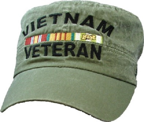 Wars - Embroidered Cap - Vietnam Veteran Flat Top