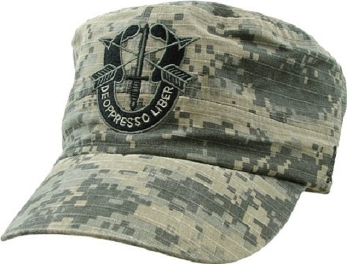 Army - Embroidered Cap - Special Forces/Green Beret Digi-Camo Flat Top