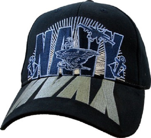 Navy - Extreme Embroidered Cap - Navy Reflection