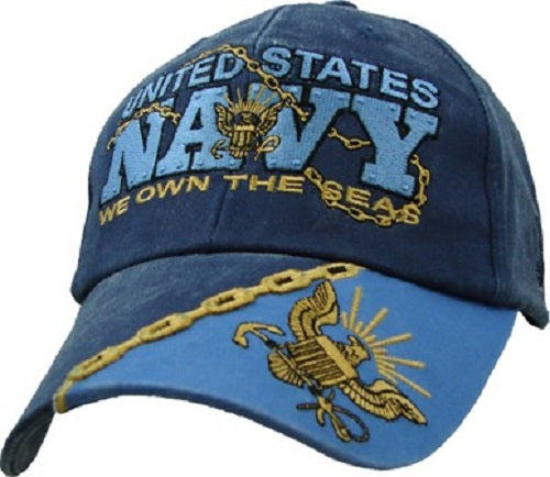 Navy - Embroidered Cap - We Own the Seas (Style 3)