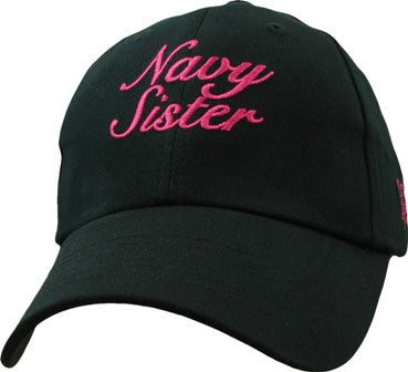 Navy - Extreme Embroidered Cap - Navy Sister (Ladies)