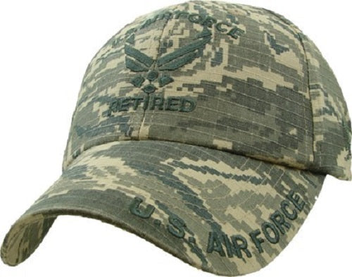 Air Force - Embroidered Cap - U.S. Air Force Retired (Digi Camo)