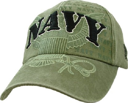 Navy - Extreme Embroidered Cap - NAVY w/ Large Logo
