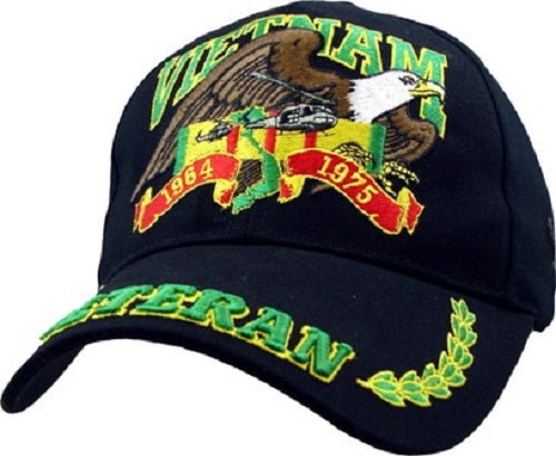 Wars & Operations - Embroidered Cap - Vietnam Veteran w/Eagle