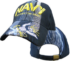 Navy - Embroidered Cap - We Own the Seas (Style 2)