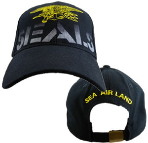 Navy - Embroidered Cap - Navy SEALS (Style 2)