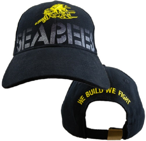 Navy - Embroidered Cap - Seabees