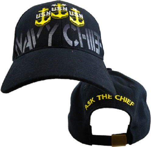 Navy - Embroidered Cap - USN Navy Chief (As Is Item)