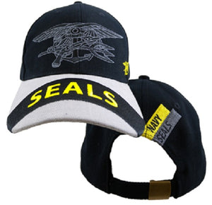 Navy - Embroidered Cap - Navy SEALS (Style 1)