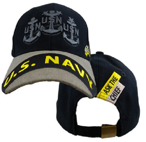 Navy - Embroidered Cap - USN Ask The Chief