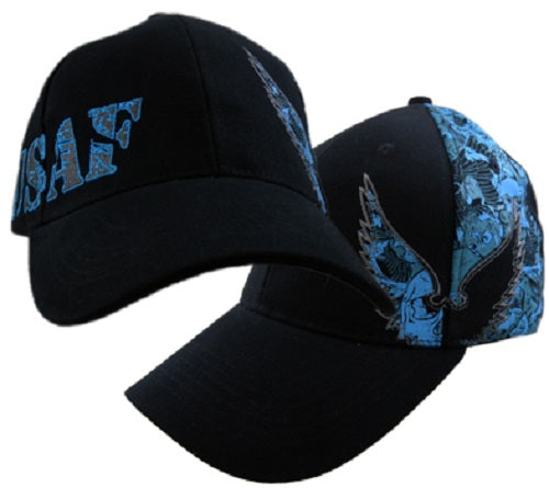 Air Force - Embroidered Cap -USAF Wings and Skull Collage