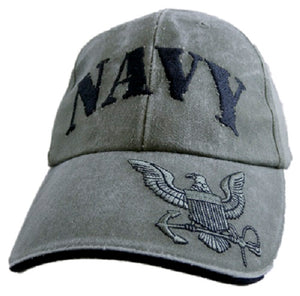 Navy - Extreme Embroidered Cap - Navy Rubber Stamp w/Logo (OD-Green)